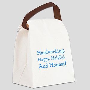 Hardworking, Slogan. Canvas Lunch Bag