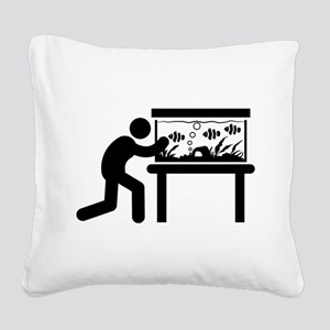 Fish Lover Square Canvas Pillow