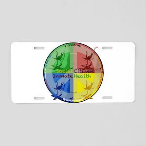 Social ramifications Aluminum License Plate