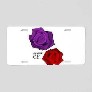 Support C.F. Aluminum License Plate