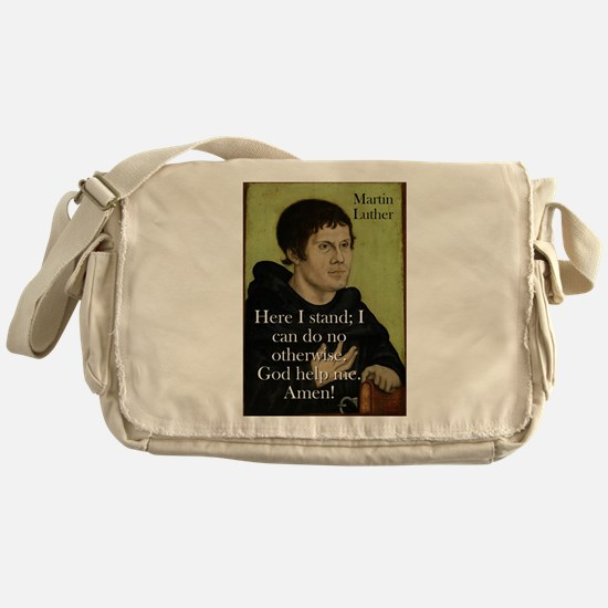 Here I Stand - Martin Luther Messenger Bag