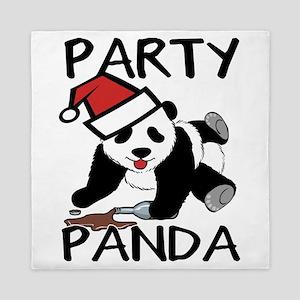 Funny party panda design Queen Duvet