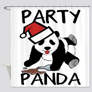 Funny party panda design Shower Curtain
