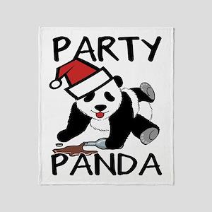 Funny party panda design Throw Blanket