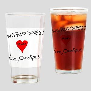 World's Best Mom love Oedipus Drinking Glass