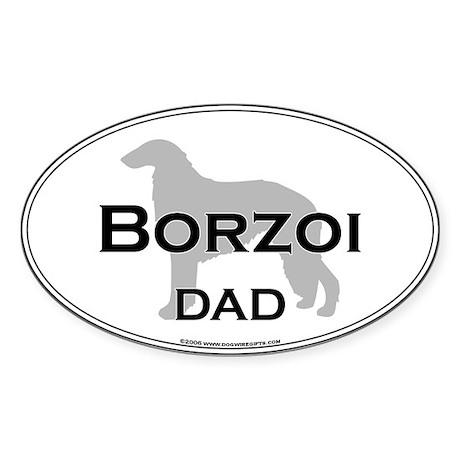 Borzoi DAD Oval Sticker