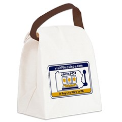 visitPAcasinos Logo Canvas Lunch Bag
