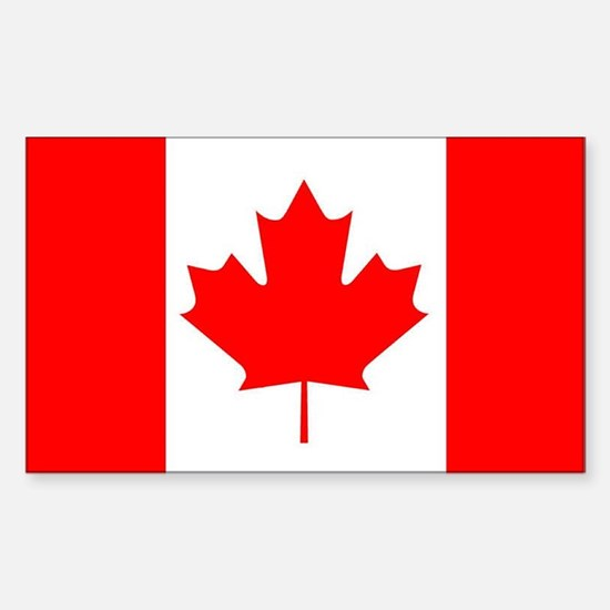 Canada Rectangle Bumper Stickers