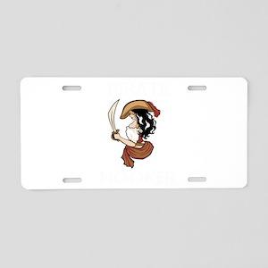 Pirate Hooker (Black) Aluminum License Plate