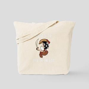 Pirate Hooker (Black) Tote Bag