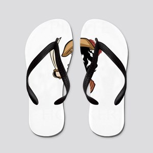 Pirate Hooker (Black) Flip Flops