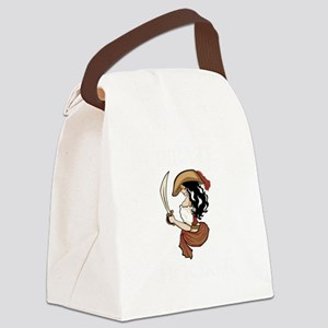 Pirate Hooker (Black) Canvas Lunch Bag