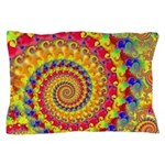 Crazy Yellow Fractal Art Pattern Pillow Case