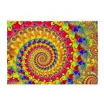 Crazy Yellow Fractal Art Pattern 5'x7'Area Rug