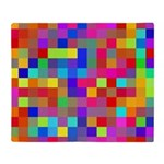 Rainbow Pixels Pattern Throw Blanket