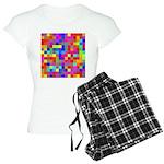 Rainbow Pixels Pattern Women's Light Pajamas