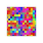 Rainbow Pixels Pattern Square Sticker 3