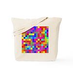 Rainbow Pixels Pattern Tote Bag