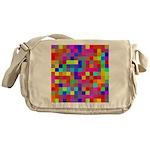 Rainbow Pixels Pattern Messenger Bag