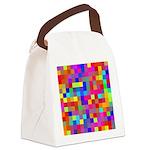 Rainbow Pixels Pattern Canvas Lunch Bag
