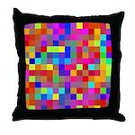 Rainbow Pixels Pattern Throw Pillow