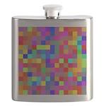 Rainbow Pixels Pattern Flask