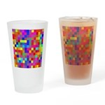 Rainbow Pixels Pattern Drinking Glass
