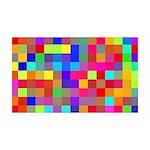 Rainbow Pixels Pattern 35x21 Wall Decal
