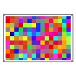Rainbow Pixels Pattern Banner