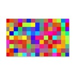 Rainbow Pixels Pattern 20x12 Wall Decal