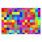 Rainbow Pixels Pattern Large Poster