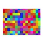Rainbow Pixels Pattern 5'x7'Area Rug