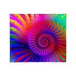 Pink Rainbow Fractal Pattern Throw Blanket