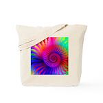 Pink Rainbow Fractal Pattern Tote Bag
