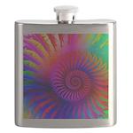 Pink Rainbow Fractal Pattern Flask