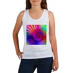 Pink Rainbow Fractal Pattern Women's Tank Top