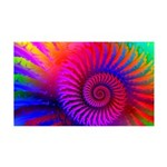 Pink Rainbow Fractal Pattern 35x21 Wall Decal