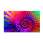 Pink Rainbow Fractal Pattern 20x12 Wall Decal