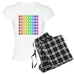 Rainbow Owl Pattern Women's Light Pajamas