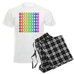 Rainbow Owl Pattern Men's Light Pajamas