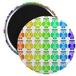Rainbow Owl Pattern Magnet
