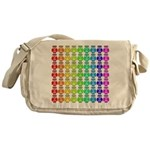 Rainbow Owl Pattern Messenger Bag