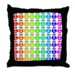 Rainbow Owl Pattern Throw Pillow