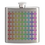 Rainbow Owl Pattern Flask