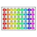 Rainbow Owl Pattern Banner