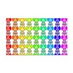 Rainbow Owl Pattern 20x12 Wall Decal