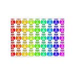 Rainbow Owl Pattern 5'x7'Area Rug
