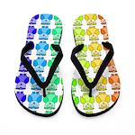 Rainbow Owl Pattern Flip Flops