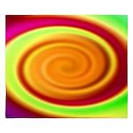 Abstract Rainbow Swirl Pattern King Duvet