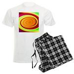 Abstract Rainbow Swirl Pattern Men's Light Pajamas